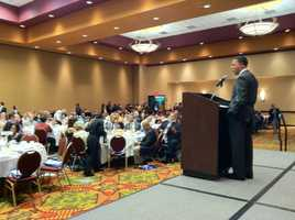 Lt. Gov. Anthony Brown hosts the Maryland delegation breakfast Tuesday morning.