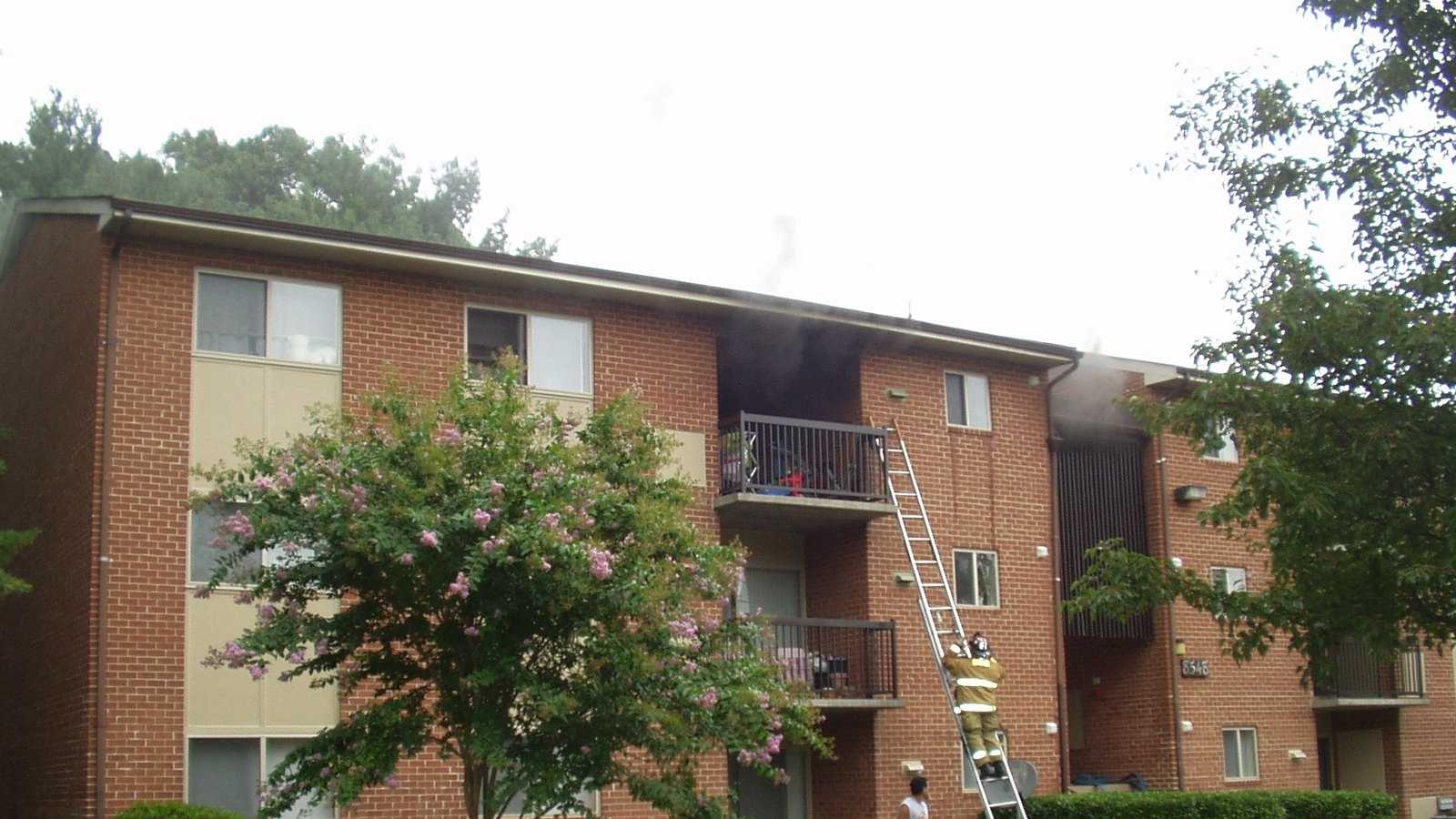 Apartment fire on Foxborough Drive in Savage image