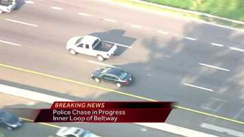 A police chase starts in Howard County and ends in southwest Baltimore County.