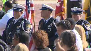 Color Guards from the Baltimore City and Baltimore County police departments.