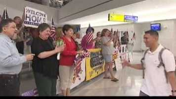 It was a special homecoming Tuesday night for troops who touched down in Maryland on the 11th anniversary of the terrorist attacks.
