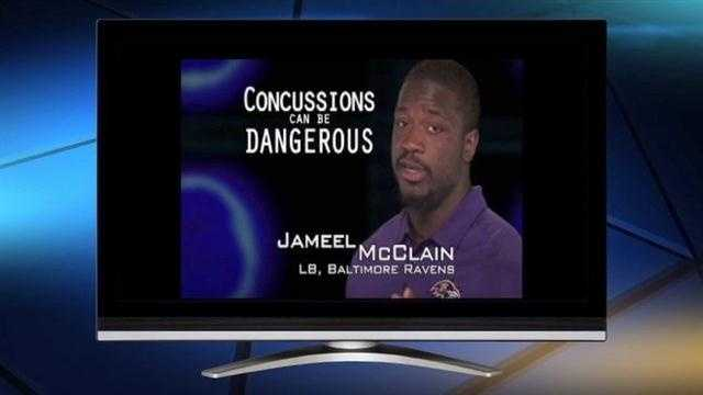 Baltimore Ravens voice concussion awareness on PSA