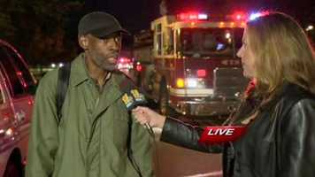 Jennifer Franciotti interviews a man who said he narrowly escaped the blaze.