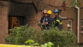 Fire officials said all 12 units were heavily damaged.