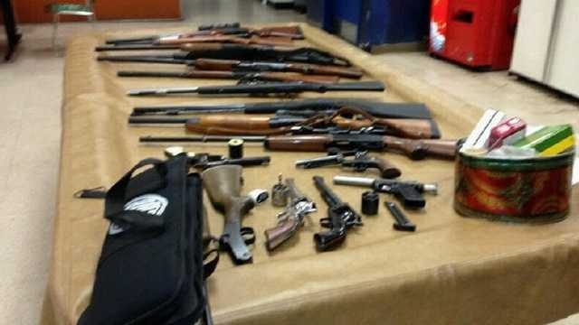 guns seized from Wayne Petty's house