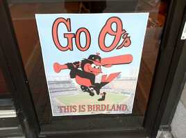 Stores downtown have posted signs in support of the O's.