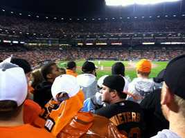 Rain may have delayed the start of Game 1 of the ALDS by 2 hours, 26 minutes, but that did nothing to lessen the enthusiasm of the 47,841 fans who endured 14-straight losing season while waiting for the Orioles to play a postseason game at Camden Yards.