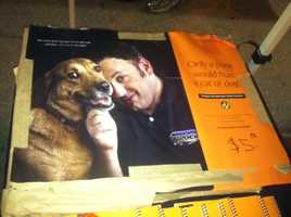 Spiegel's posters were also available for $5. The proceeds also benefit the Show Your Soft Side campaign.