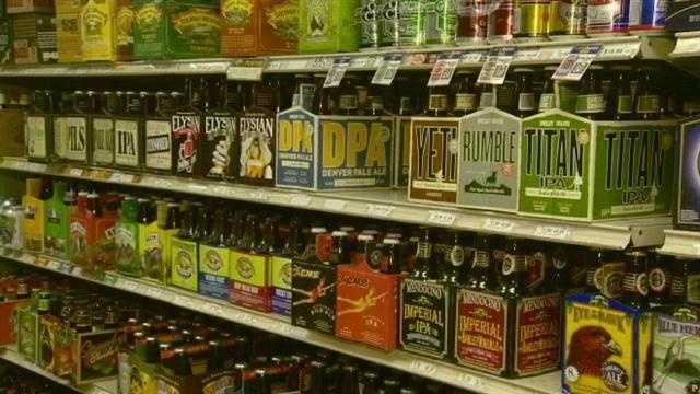 Liquor on Shelves