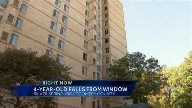 Boy, 4, falls from 9th-floor window
