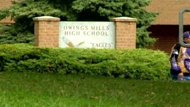 Student shows off BB gun at Owings Mills High School