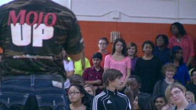 Mr. Mojo visits Eastern Tech High School students
