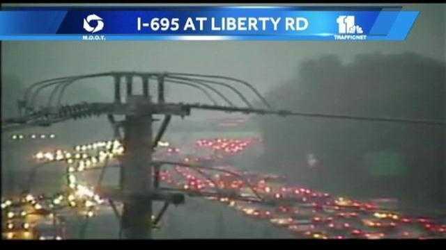 Liberty Road crash- camera shot