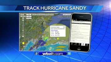 Track Hurricane Sandy on interactive radar on wbaltv.com and on WBAL-TV's mobile app.