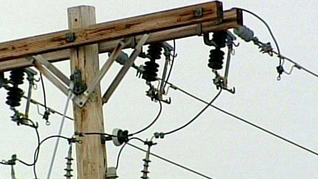 power line, electricity, power outage