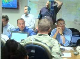 Gov. Martin O'Malley in the MEMAstrategyroom.