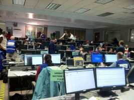 Inside the Maryland Emergency Management Agency in Reisterstown.