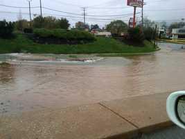 Cranbrook Road at York Road in Cockeysville.