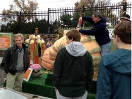 Yes, that's a BIG pumpkin!