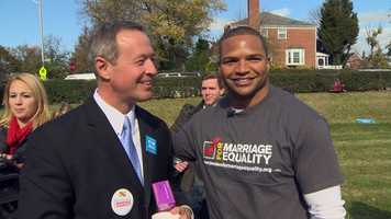 Ayanbadejo, a supporter of same-sex marriage, lent his time to help support Question 6, alongside the governor.