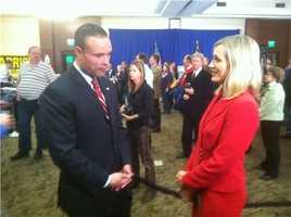 WBAL-TV reporter Kerry Cavanaugh checks in with U. S. Senate candidate Dan Bongino.