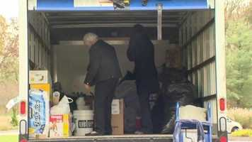 Good Samaritans from Howard County are trying to fill a truck with donated supplies with a plan to hit the road Monday.