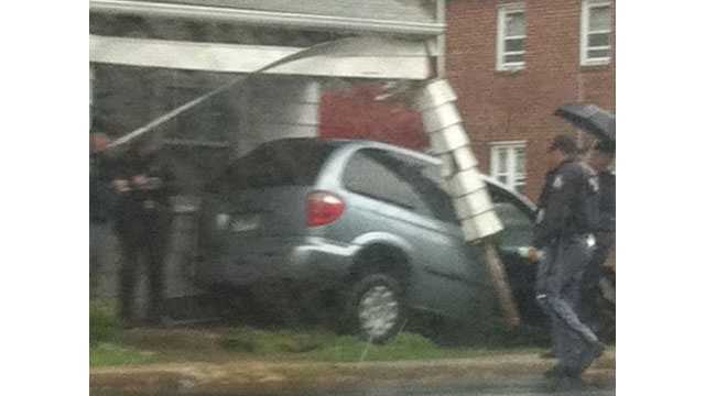 Van Smashes Into Catonsville Home