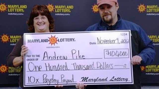 Andrew and Elizabeth Pike buy winning lottery ticket