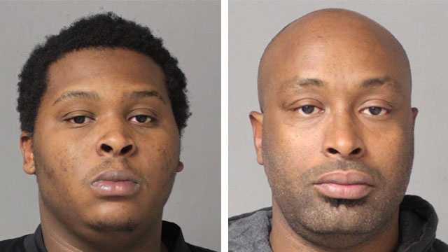 Police said Joshua Venson (left), 24, and Otho Alexander (right), 35, were arrested and charged with possession and possession with intent to distribute marijuana.