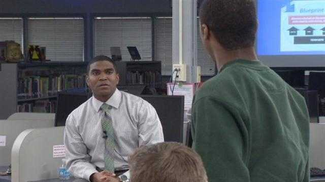 A group of Baltimore County high school students got to question the superintendent.