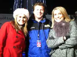 From left to right: 11 Insta-Weather PLUS meteorologist Ava Marie&#x3B; WBAL-TV 11 News' Tim Tunison, assistant news director, WBAL-TV 11 News' Donna Hamilton after the special live broadcast.