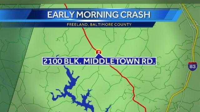car crash site map