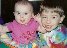 Leah Crisco turns 12 on 12-12-12. She's pictured here on her first birthday with her brother Zac.