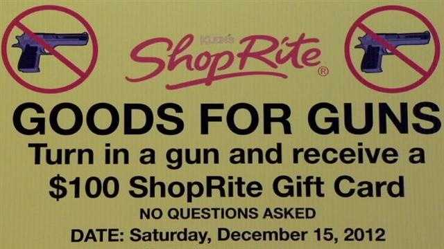 City hopes to collect guns for 100 gift card