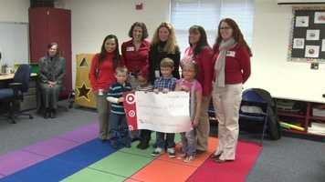 Target presents an Anne Arundel County children's center with an early Christmas gift.