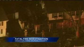 A woman is killed when a fire rips through a home in Anne Arundel County on Wednesday evening.