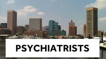 4. Psychiatrists - $172,900