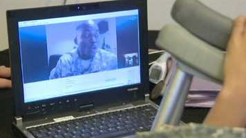 Khalil, 10, thought the highlight of his day Wednesday would be chatting on Skype for the first time with a soldier stationed in Kuwait, but it got even better.