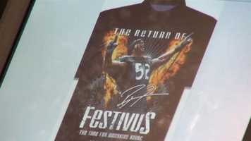 The store opened early Thursday for customers who were waiting to get their hands on the new Festivus T-shirts.