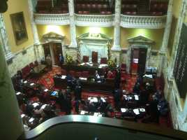 The Senate begins their first day of Session 2013.