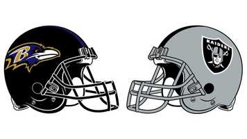 Nov. 11: Scoring the most points in franchise history, the Ravens topped the visiting Raiders, 55-20, at M&T Bank Stadium. QB Joe Flacco threw 3 TD passes and ran for a fourth, while Baltimore's special teams provided 2 TDs. The Ravens took a 10-0, first-quarter lead on a 48-yard K Justin Tucker field goal and Flacco's 1-yard TD dive. After an Oakland FG (K Sebastian Janikowski, 32 yards), the Ravens extended the lead to 20-3 on a Flacco-to-TE Dennis Pitta 5-yard TD toss and another Tucker FG (34 yards). Oakland fought back, cutting the lead to 10 (20-10) on a QB Carson Palmer-to-WR Darrius Heyward-Bey 55-yard TD throw with 1:37 left in the second quarter. But, the Ravens roared back with a quick 7-play, 80-yard TD drive that ended with a 7-yard RB Ray Rice score that gave the home team a 27-10 halftime lead. The Ravens scored again on the opening series of the second half when WR Torrey Smith grabbed a 47-yard TD strike from Flacco to make the score 34-10. After the Raiders scored on a Palmer-to-WR Denarius Moore 30-yard pass, Flacco hit Smith again with a TD throw (20 yards). After P Sam Koch scored from 7 yards on a fake FG, the Ravens enjoyed a 48-17, third-quarter advantage. Janikowski added a 47-yard FG, and Baltimore's WR/RS Jacoby Jones returned a kickoff 105 yards for the game's final tally. Flacco completed 21 of 33 for 341 yards with 3 TDs and 1 INT for a 115.8 QB rating. Palmer, who was sacked 3 times and had 6 passes tipped near or at the line of scrimmage, was 29-of-45 for 368 yards (95.4 rating). OLB Paul Kruger intercepted Palmer and sacked him twice.