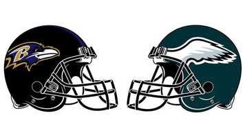 Sept. 16: In a thrilling and chaotic contest, the Ravens dropped their first game of the season, losing 24-23. Eagles QB Michael Vick's 1-yard TD plunge with 1:55 left in the game provided Philly with the winning margin. The Ravens appeared to take a 10-point, 27-17 lead with 5:35 left in the game after QB Joe Flacco found WR Jacoby Jones in the end zone for a 25-yard touchdown, however, an offensive pass interference call on Jones nullified the score. The Eagles took a 7-0 first-quarter lead on RB LeSean McCoy's 1-yard TD 10 minutes into the game after getting the ball on the Ravens' 15-yard line following a Flacco sack/fumble. Baltimore roared right back, tying the game on a 5-yard FB Vonta Leach TD run. A Flacco-to-Jones 21-yard scoring strike and a 56-yard K Justin Tucker field goal gave the Ravens a 17-7 halftime lead. (Tucker's FG tied for the longest in Ravens history.) An Eagles' touchdown – Vick to WR Jeremy Maclin for 23 yards – and a 23-yard FG by K Alex Henery tied the game at 17 after three quarters. Tucker then made 51- and 48-yard FGs to give Baltimore a 23-17 lead with 4:43 left in the game. The Ravens moved the ball to their own 46 on the final drive before failing on a fourth-and-1 pass from Flacco that was intended for RB Ray Rice. Flacco finished the game with 22 completions on 42 attempts for 232 yards. TE Dennis Pitta caught a team-high 8 balls for 65 yards, while Rice caught 6 for 53 and added 99 rushing yards on 16 carries. Vick completed 23 of 32 for 371 yards, including 8 to TE Brent Celek for 157 yards and 7 to WR DeSean Jackson for 114 more. The Eagles produced 486 yards to the Ravens' 325.