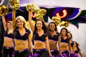 Ravens cheerleaders are in our community helping raise funds for charities and foundations in the Baltimore area.
