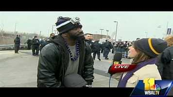 "Ed Reed gets emotional while talking to Deb. On the Super Bowl blackout, he said, ""That was some bull!"""