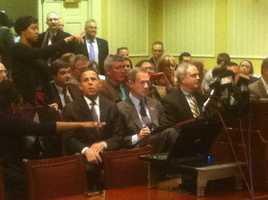 Lt. Gov. Anthony Brown, Gov. Martin O'Malley, Baltimore County State's Attorney Scott Shellenberger