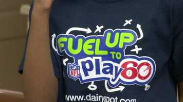 Smith is working with the Got Milk campaign for the Fuel Up Play 60 program that encourages 60 minutes a day of exercise and healthy eating habits.