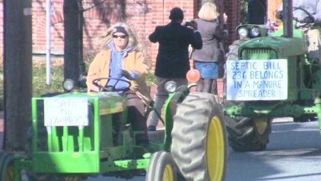 Farmers protest development rights in Annapolis