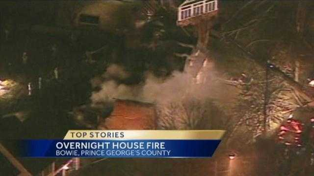 Bowie house fire