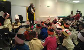A group of younger boys and girls got to hear some stories afterward from other people volunteering in the community.