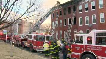A fast-moving east Baltimore fire killed a father on Sunday, according to fire officials.